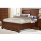 All-American Reflections Queen Sleigh Storage Bed in Medium Cherry