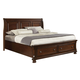 All-American Reflections Eastern King Sleigh Storage Bed in Dark Cherry