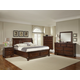 All-American Reflections Sleigh Storage Bedroom Set in Dark Cherry