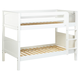 Maxtrix Bare Bone Twin Size Low Bunk (4 x Low) Panel Bed with Straight Ladder in White HOT SHOTWP