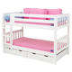 Maxtrix Bare Bone Low Bunk (4 x Low) Slat Bedroom Set in White