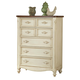 American Woodcrafters Chateau Collection 5-Drawer Chest in White Antique 3501-150