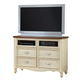 American Woodcrafters Chateau Collection 4-Drawer Entertainment Center in White Antique 3501-232