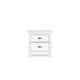 Magnussen Furniture Kasey Drawer Nightstand in White B2026-01