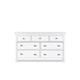 Magnussen Furniture Kasey Drawer Dresser in White B2026-20
