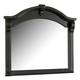 American Woodcrafters Heirloom Collection Landscape Mirror in Black with Rub Through Highlights 2900-040