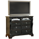 American Woodcrafters Heirloom Collection Entertainment Chest in Black with Rub Through Highlights 2900-232