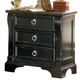 American Woodcrafters Heirloom Collection 3-Drawer Night Stand in Black with Rub Through Highlights 2900-430 PROMO