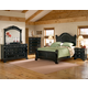 American Woodcrafters Heirloom Collection Poster Bedroom Set in Black with Rub Through Highlights 2900-PosterB