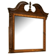 American Woodcrafters Wellington Manor Landscape Mirror in Rich Mahogany with Inlaid Prima Vera Veneer 75000-040