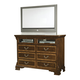 American Woodcrafters Wellington Manor Entertainment Dresser in Rich Mahogany with Inlaid Prima Vera Veneer 75000-232