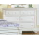 American Woodcrafters Cottage Traditions 6-Drawer Double Dresser in Eggshell White 6510-260