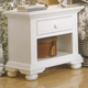 American Woodcrafters Cottage Traditions Small Nightstand in Eggshell White 6510-410