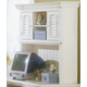 American Woodcrafters Cottage Traditions Computer Hutch in Eggshell White 6510-546