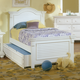 American Woodcrafters Cottage Traditions Full Panel Bed in Eggshell White 6510-46PAN
