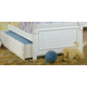 American Woodcrafters Cottage Traditions Trundle Bed Storage Unit in Eggshell White 6510-906
