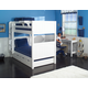 Maxtrix Bare Bone Medium Bunk (2 Low/2 High) Panel Bedroom Set in White