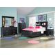 Magnussen Furniture Next Generation Bennett 4-Piece Bookcase Bedroom Set in Black