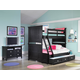 Magnussen Furniture Next Generation Bennett 4-Piece Bunk Bedroom Set in Black
