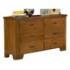 American Woodcrafters Heartland Collection 6-Drawer Double Dresser in Spice Brown 1800-260 PROMO