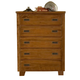 American Woodcrafters Heartland Collection 5-Drawer Chest in Spice Brown 1800-150