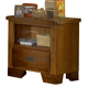 American Woodcrafters Heartland Collection Single Drawer Nightstand in Spice Brown 1800-410