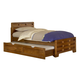American Woodcrafters Heartland Collection Twin Captain's Bed with Storage in Spice Brown 1800-33CPB