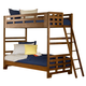 American Woodcrafters Heartland Collection Twin Bunk Bed in Spice Brown 1800-33BNK