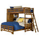 American Woodcrafters Heartland Collection Twin Over Full Student Bunk Loft Bed in Spice Brown 1800-TFSLB