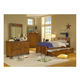 American Woodcrafters Heartland Collection Captain's Bedroom Set with Storage in Spice Brown 1800-SetA