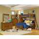 American Woodcrafters Heartland Collection Bunk Loft Bedroom Set in Spice Brown 1800-SetC