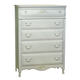 American Woodcrafters Summerset Collection 5-Drawer Chest in Fresh White 67100-150