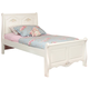 American Woodcrafters Summerset Collection Twin Sleigh Bed in Fresh White 67100-33SLE