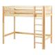 Maxtrix Bare Bone High Loft (2 x LOW) Slat Bedroom Set in Natural