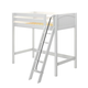 Maxtrix Bare Bone Twin Size High Loft (2 x LOW) Panel Bed with Angle Ladder in White KNOCK OUT-002