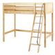Maxtrix Bare Bone High Loft (2 x LOW) Panel Bedroom Set in Natural (Angle Ladder)