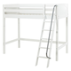 Maxtrix Bare Bone High Loft (2 x LOW) Panel Bedroom Set in White (Angle Ladder)