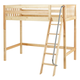 Maxtrix Bare Bone High Loft (2 x LOW) Slat Bedroom Set in Natural (Angle Ladder)