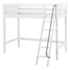 Maxtrix Bare Bone High Loft (2 x LOW) Slat Bedroom Set in White (Angle Ladder)