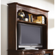 Hammary Cherry Grove New Generation Entertainment Hutch with Adjustable Shelf in Mid Tone Brown 091-581