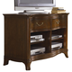 Hammary Cherry Grove New Generation 2-Drawer Entertainment Console in Mid Tone Brown 091-582
