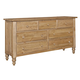 Kincaid Homecoming Solid Wood Triple Dresser in Vintage Pine 33-160