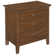 Kincaid Cherry Park Solid Wood Three Drawer Nightstand 63-141