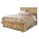 Kincaid Homecoming Solid Wood Queen Panel Bed with Footboard Storage in Vintage Pine