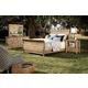 Kincaid Homecoming Solid Wood Sleigh Bedroom Set in Vintage Pine