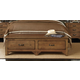 Kincaid Homecoming Solid Wood Storage Footboard Bench (King) in Vintage Oak 34-139F