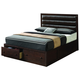Coaster Remington Cal King Storage Bed in Cherry 202311KW