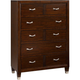 Broyhill Eastlake 5 Drawer Chest in Warm Brown Cherry 4264-240