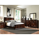Broyhill Eastlake 2 Panel Bedroom Set in Warm Brown Cherry 4264PBR