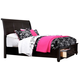 Broyhill Farnsworth Eastern King Storage Sleigh Bed in Inky Black Stain 4856-264ST